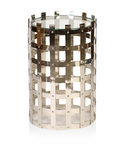 Prima Design Source Metal Strap Table, Nickel