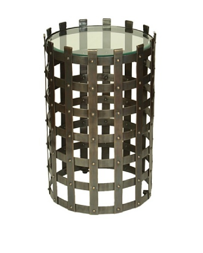 Prima Design Source Metal Strap Table, Dark Bronze