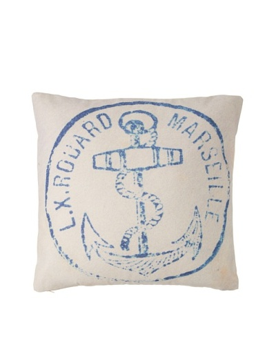 Prints Charming Soho Marseille Anchor Pillow