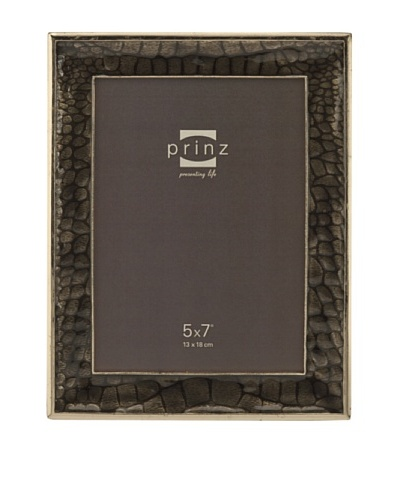 "Prinz Capri 5"" x 7"" Enameled Metal Photo Frame, Taupe"