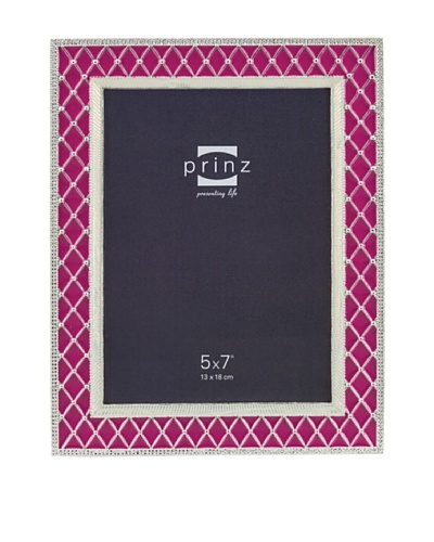 Prinz Deville 5 x 7 Enameled Metal Photo Frame, Pink