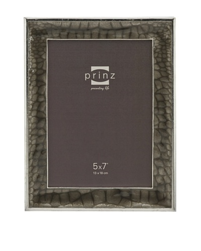 Prinz Capri 5 x 7 Enameled Metal Photo Frame, Gray