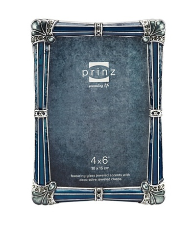 Vera Metal Jeweled Frame, 4 x 6