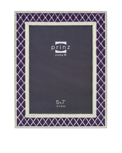 "Prinz Deville 5"" x 7"" Enameled Metal Photo Frame, Purple"