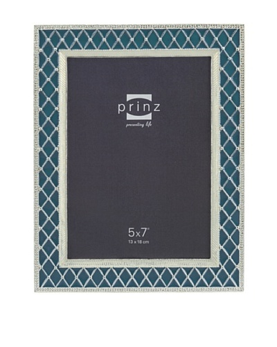 Prinz Deville 5 x 7 Enameled Metal Photo Frame, Blue