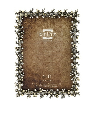 Claudette Metal Jeweled Frame, 4 x 6