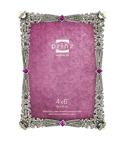 Raquel Metal Jeweled Frame, 4 x 6