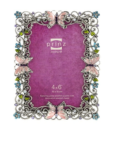 "Lulu Metal Jeweled Frame, 4"" x 6"
