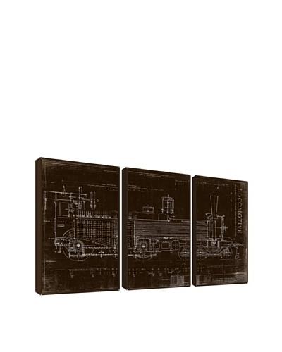 Locomotive Giclée Triptych Box