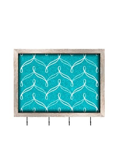 PTM Images Nautical Cork Key/Jewelry Organizer with Cork Backing, Light Nautical Blue