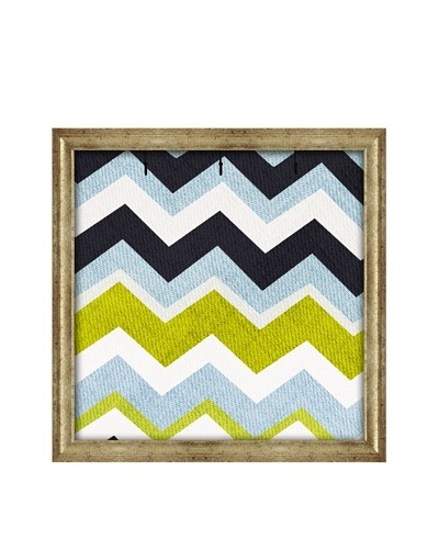 PTM Images Canvas Key/Jewelry Organizer with Foam-Core Backing, Multi Chevron