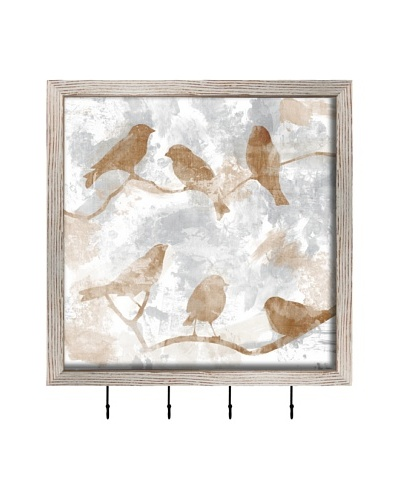 PTM Images Birds and Branches Key/Jewelry Organizer, White