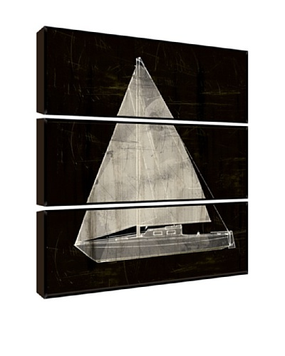 Black and White Sailboat Giclée Triptych Box