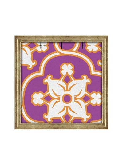 PTM Images Canvas Key/Jewelry Organizer with Foam-Core Backing, Purple/Orange