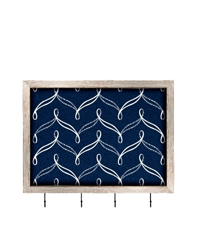 PTM Images Nautical Cork Key/Jewelry Organizer with Cork Backing, Dark Nautical Blue