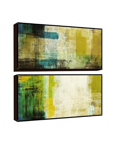 Green Abstract Giclée Diptych Box