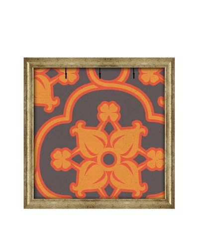 PTM Images Canvas Key/Jewelry Organizer with Foam-Core Backing, Orange/Charcoal