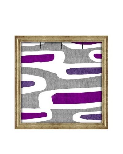 PTM Images Canvas Key/Jewelry Organizer with Foam-Core Backing, Bordeaux/Purple
