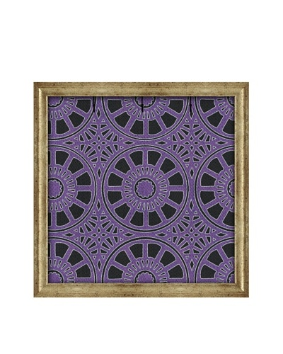 PTM Images Canvas Key/Jewelry Organizer with Foam-Core Backing, Purple/Black