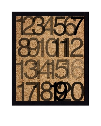"""Numbers"" Corkboard"