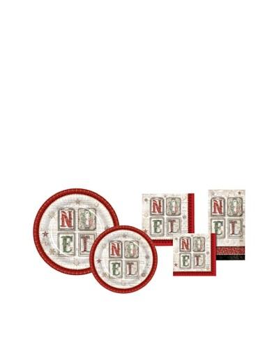 Punch Studio Holiday Plate & Napkin Set, Noel