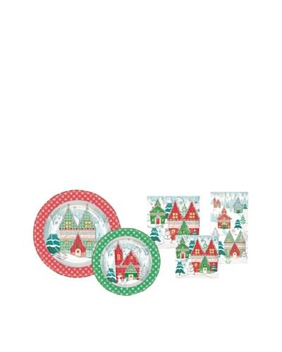 Punch Studio Holiday Plate & Napkin Set, Winterland
