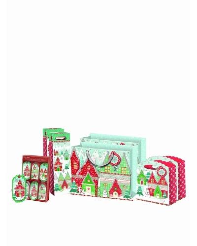 Punch Studio Holiday Gift Bag Set, Winterland