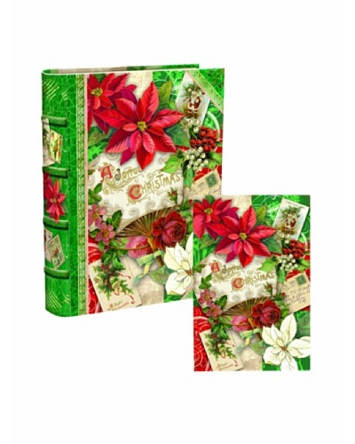 Punch Studio Bookbox Holiday Greeting Cards [Poinsettia]