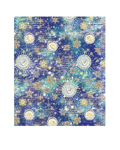 Punch Studio Set of 4 Continuous Roll Holiday Gift Wrap, Celestial Sparkle