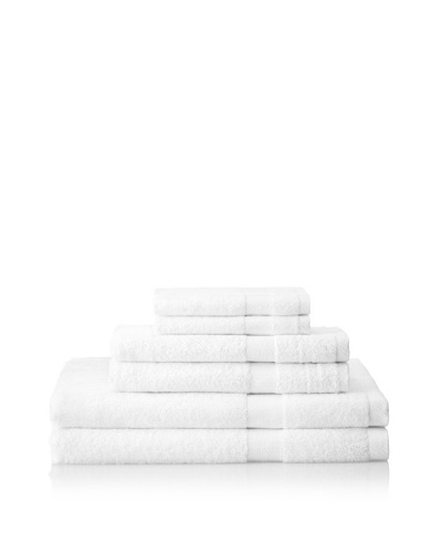 Pure Fiber 6-Piece Viscose from Bamboo Bath Towel Set, Pure White