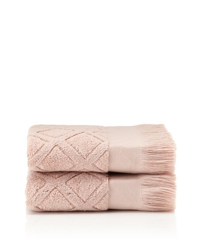Pure Fiber Set of 2 Diamond Hand Towels