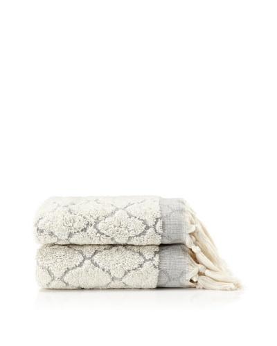 Pure Fiber Set of 2 Delight Hand Towels [Slate]