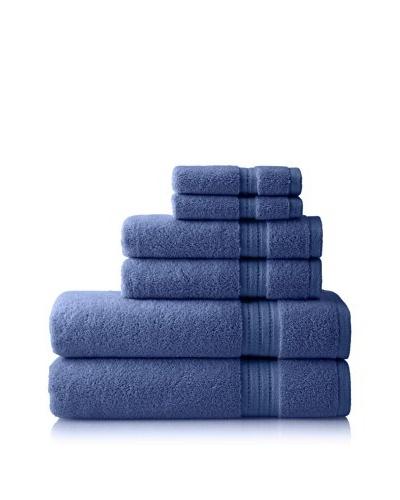 Pure Fiber Zero Twist 6-Piece Towel Set, Blue