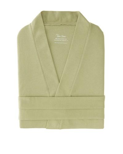 Pure Fiber Lightweight Organic Cotton Bathrobe, Sage Green, OSFA