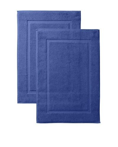 Pure Fiber Zero Twist Set of 2 Bath Mats, Blue