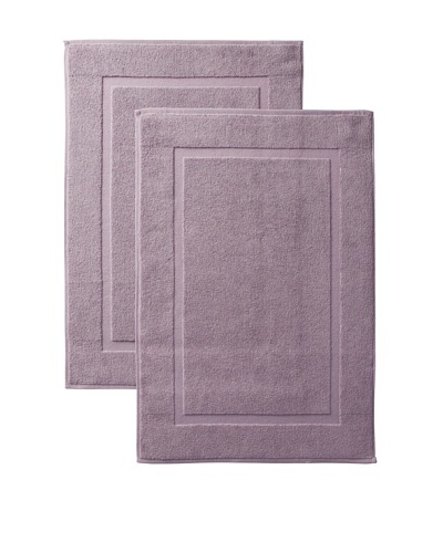 Pure Fiber Zero Twist Set of 2 Bath Mats, Purple