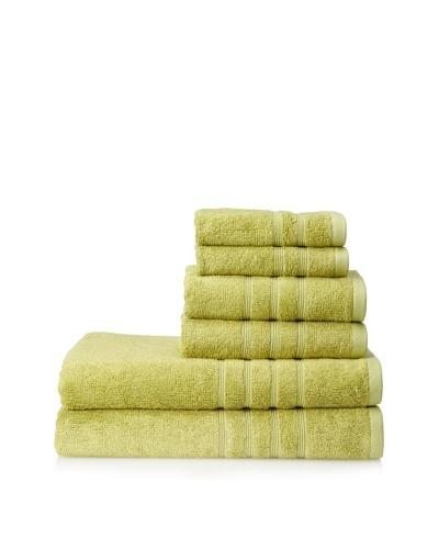 Pure Fiber 6-Piece Viscose from Bamboo Bath Towel Set, Kiwi