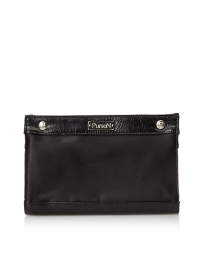 PurseN Clutch Make-Up Bag [Black/Black Patent]