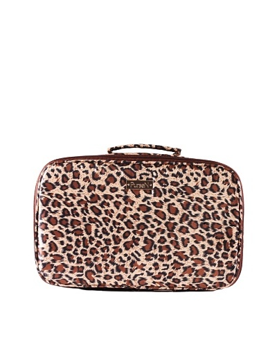 PurseN Amour Travel Toiletry Case, Leopard/BrownAs You See
