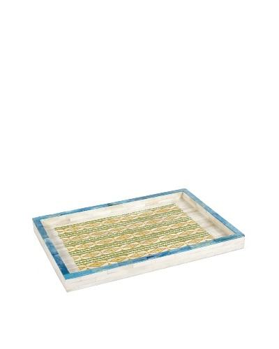 Purva Aztecean Print Bone Tray, Multi