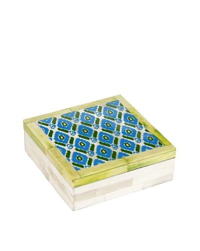 Purva Ikat Print Bone Box, Multi