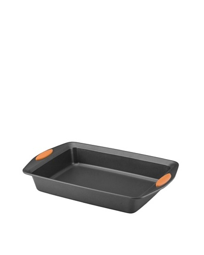 Rachael Ray Oven Lovin' Rectangle Nonstick Bakeware 9-Inch-by-13-Inch Cake Pan, Orange