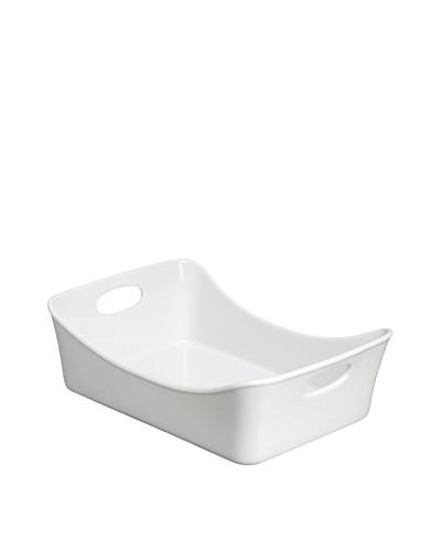 """Rachael Ray 9"""" x 13"""" Stoneware Rectangular Pans [White]"""