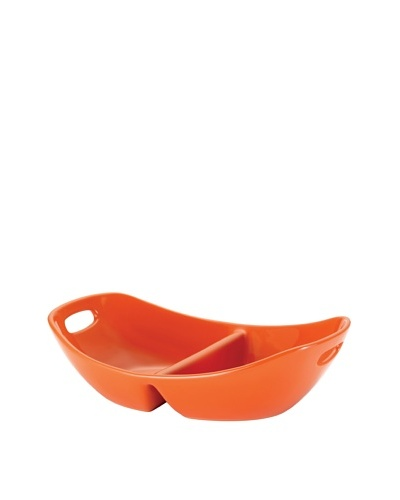 Rachael Ray Stoneware Divided Serving Dish, 14 [Orange]