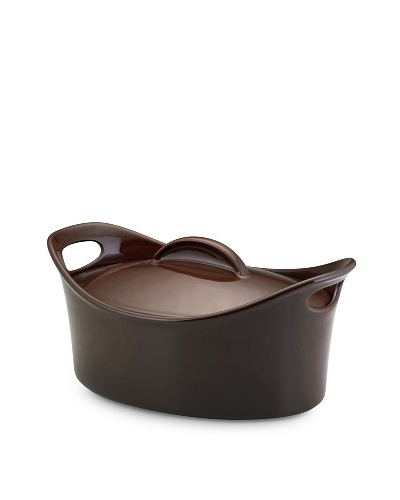 Rachael Ray Stoneware Bubble and Brown Casserole Dish