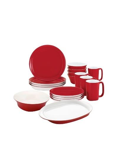 Rachael Ray Round & Square Custom Dinnerware Set, Red