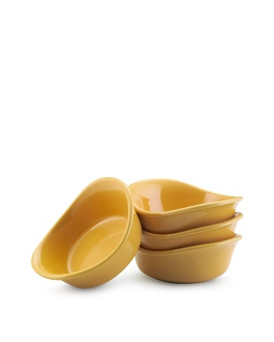 Rachael Ray Lil' Saucy Set of 4 Stoneware Dipping Cups