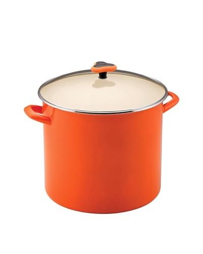 Rachael Ray Enamel On Steel Stockpot with Glass Lid [Orange]
