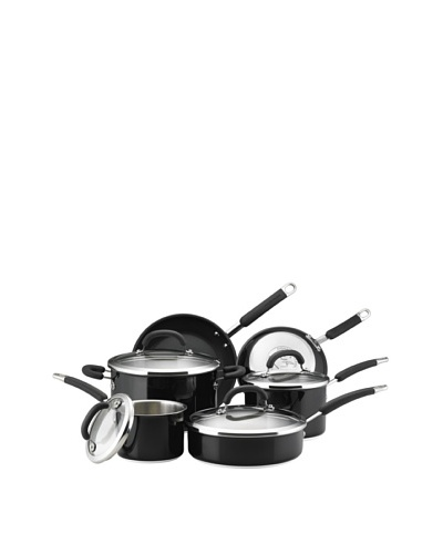 Rachael Ray Colored Stainless Steel Cookware 10-Piece Cookware Set