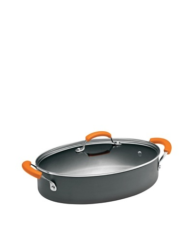 Rachael Ray Hard Anodized II Nonstick 5-Quart Covered Oval Saute with Side HandlesAs You See